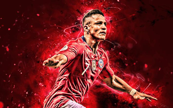 Download Wallpapers Alexis Sanchez 2019 Chile National