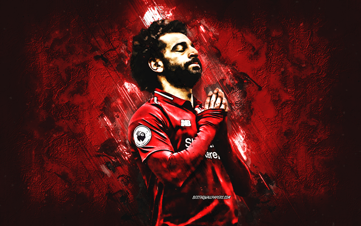 Download Wallpapers Mohamed Salah, Liverpool FC, Portrait