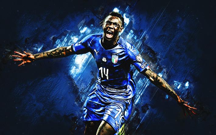 Herunterladen Hintergrundbild Moise Kean Italien Fussball