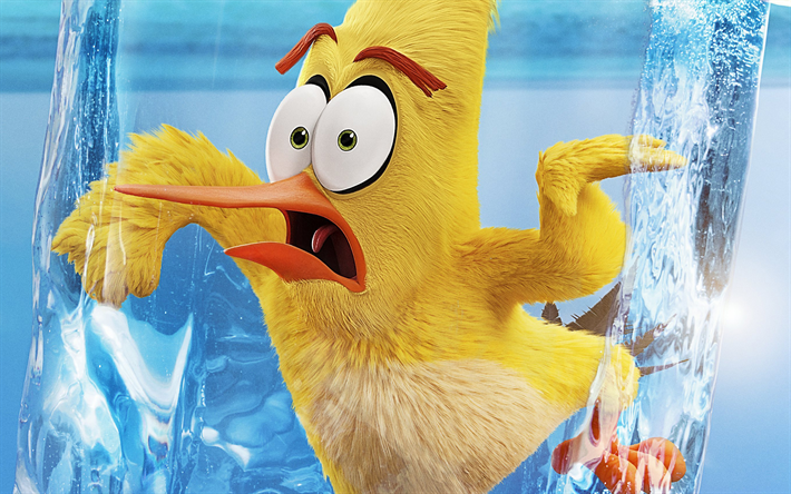 Chuck, The Angry Birds Movie 2, 2019 movie, 3D-animation, Angry Birds 2, yellow bird