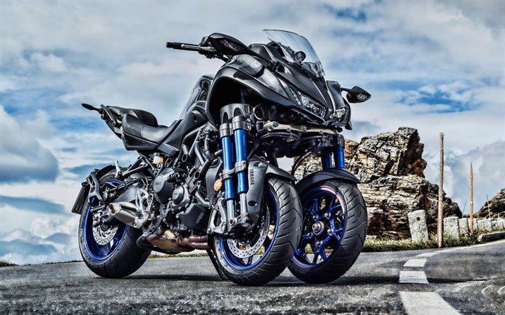Download Wallpapers Yamaha Niken, 4k, HDR, 2019 Bikes