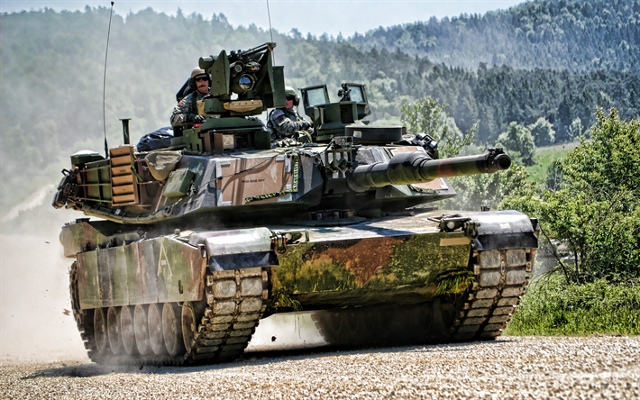 M1A2 Abrams SEP V2, 4k, American MBT, tanks, US army, green camouflage, armored vehicles, M1 Abrams
