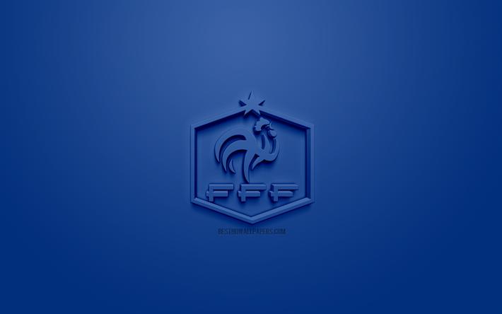 Scarica Sfondi Francia Squadra Nazionale Di Calcio Creativo Logo 3d