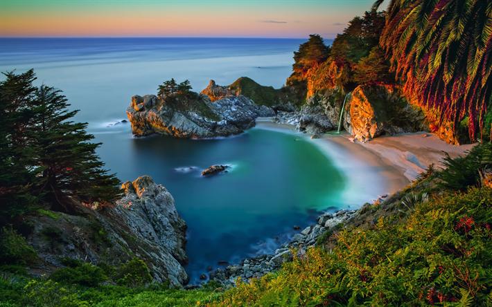 Scarica sfondi america 4k oceano tramonto costa porto for Sfondi 4k per pc