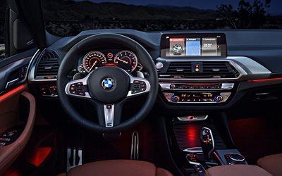 Herunterladen Hintergrundbild Innenausstattung Bmw X3 4k