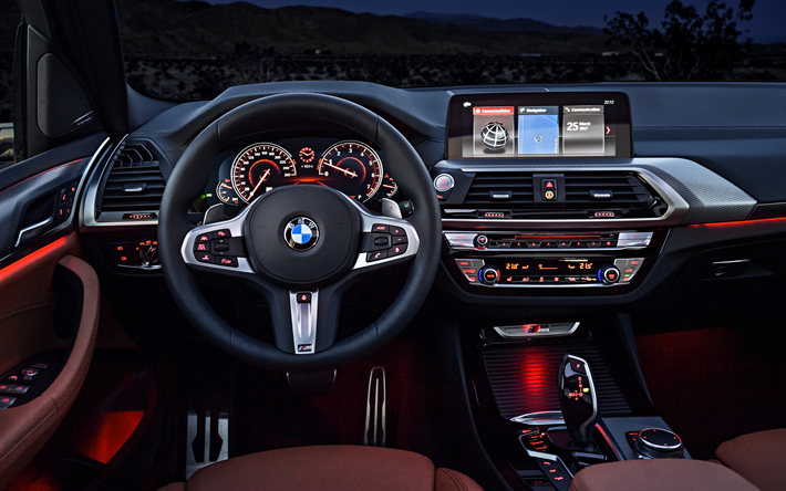 descargar fondos de pantalla interior bmw x3 4k 2018 coches tablero de instrumentos los. Black Bedroom Furniture Sets. Home Design Ideas