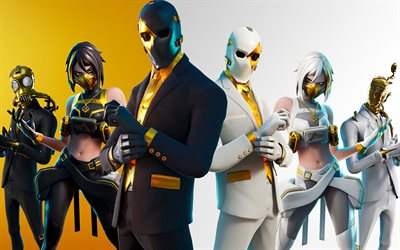 Fortnite, il 2020, Ghost team, Shadow team, poster, materiale promozionale, i personaggi principali