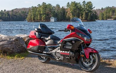 honda, audio comfort, navi, gold wing, 2016, gl1800, abs, red, nature, cruiser