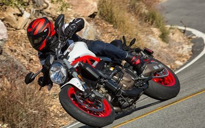 821, monster, track, bike, ducati, turn, 2015