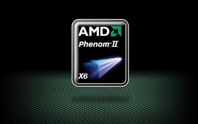 processor, six cores, amd, phenom ii, flagship, logo