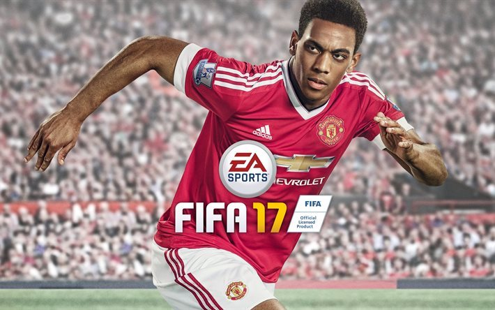 juegos de video, fifa17, simulador deportivo, jugador, 2016, xbox one, ps 3, microsoft windows, el manchester united, anthony martial, ps 4, xbox 360
