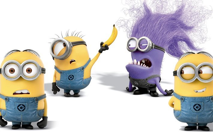 Minions, Kevin, Bob, Stewart, Purple Minion, Despicable Me 2