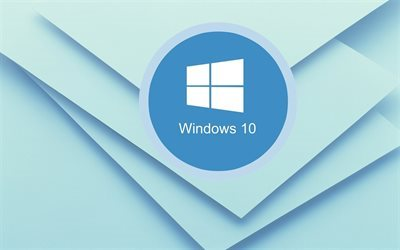 windows 10, creative, background, logo