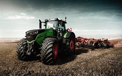 tractors, 2016, field, arable land, agriculture, plow