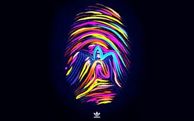 adidas, fingerprint, creative