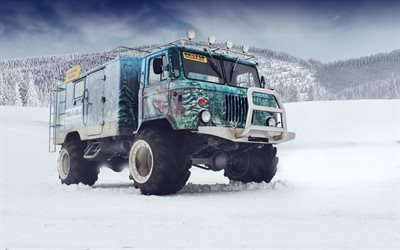 gaz-66, trucks, tuning, winter