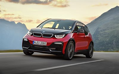 herunterladen hintergrundbild bmw i3s 2018 vorderansicht. Black Bedroom Furniture Sets. Home Design Ideas