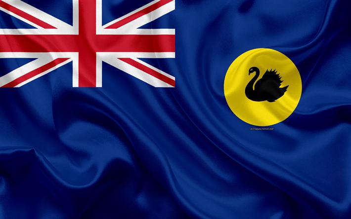 Download Wallpapers Flag Of Western Australia 4k Silk Flag