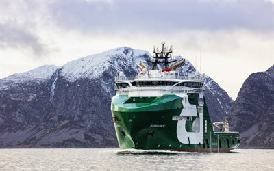 Bourbon Arctic, port, AHTS, vessel, Offshore Supply Ship, sea
