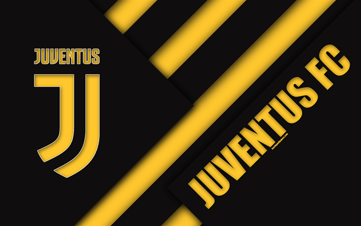 download wallpapers juventus fc 4k material design new logo black yellow abstraction serie a italy turin football creative art juve official colors for desktop free pictures for desktop free download wallpapers juventus fc 4k