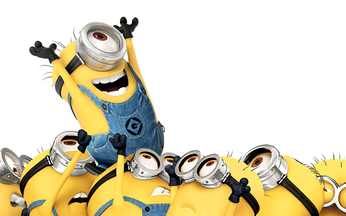 Minions, 4k, Funny Characters, Despicable Me 3, 2017 Movies