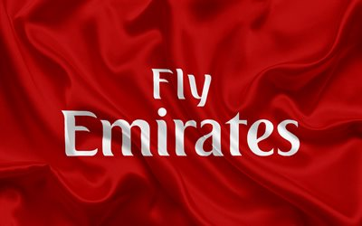Cars On Line >> Download wallpapers Emirates, airline, emblem, Emirates logo, airlines, UAE, Dubai, fly emirates ...