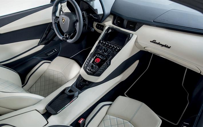 T l charger fonds d 39 cran lamborghini aventador 2018 4k for Interieur de voiture