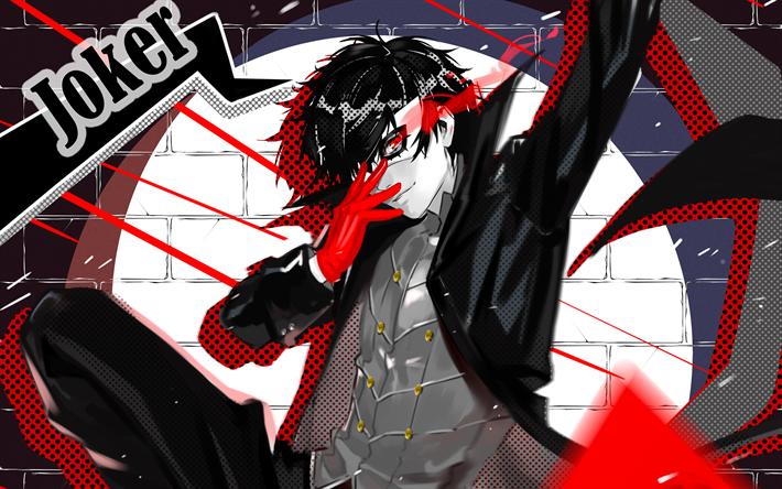 Scarica Sfondi Joker, 4k, Protagonist, Persona 5, Megami
