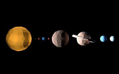 planets of the solar system, rectangle style, space concepts, planetary series