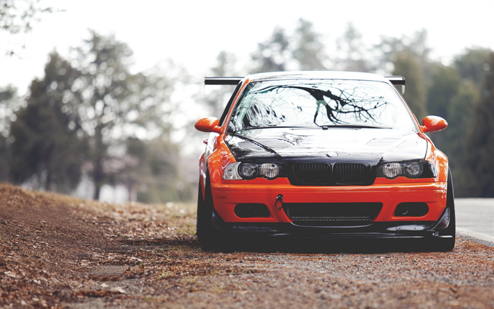 Download Wallpapers E46 Bmw M3 Road Stance Tuning German Cars