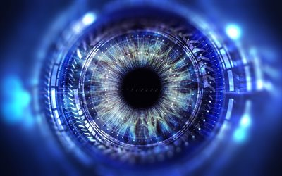 abstract eye, 4k, digital art, creative, eyeball, artwork, eyes, abstract backgrounds, security concepts