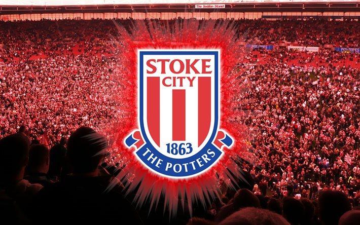 Download Wallpapers Stoke City FC, 4k, Logo, Fan Art
