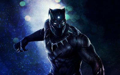 Black Panther, 4k, 2018 movie, Marvel, science fiction