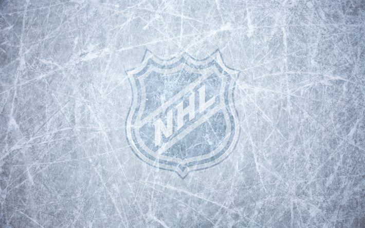 Download Wallpapers Nhl National Hockey League Logo Emblem Ice