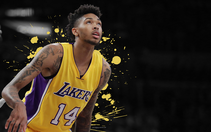 Brandon Ingram 4k Basketball Players NBA Los Angeles Lakers Grunge