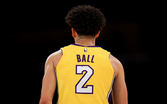 Download wallpapers 4k, Lonzo Ball, match, basketball ...
