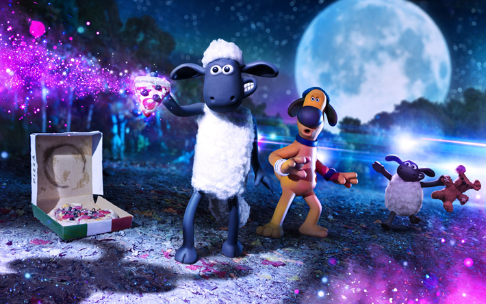 Farmageddon, Shaun the Sheep Movie, 2019, promotional materials, poster, 3d animals