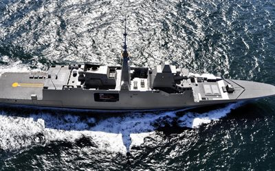 Aquitaine, D650, French frigate, FREMM multipurpose frigate, French Navy, warships, sea