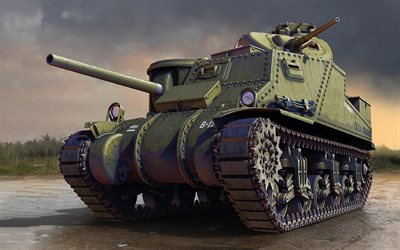 M3 Lee, American tank, World War II, M3, old tanks, American army, USA