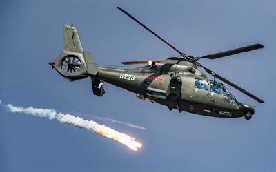Harbin Z-9, chinese military helicopter, Chinese Air Force, military transport helicopter, Eurocopter AS365 Dauphin