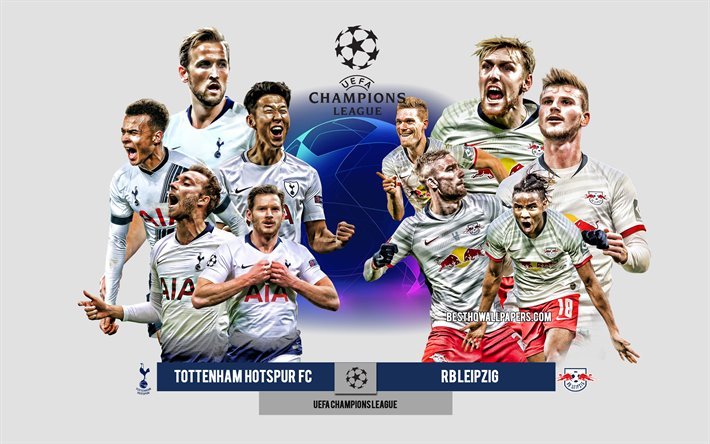 Download Wallpapers Tottenham Hotspur Vs Rb Leipzig Uefa Champions League Preview Promotional Materials Football Players Champions League Football Match Logos Tottenham Hotspur Rb Leipzig For Desktop Free Pictures For Desktop Free