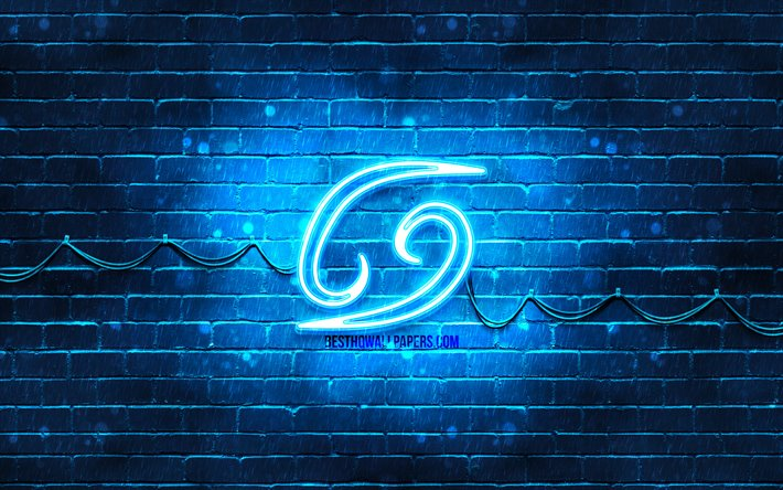 thumb2 cancer neon sign 4k blue brickwall creative art zodiac signs