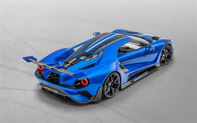 2020, Ford GT Mansory, blue hypercar, tuning Ford GT, luxury sports car, american sports cars, Ford
