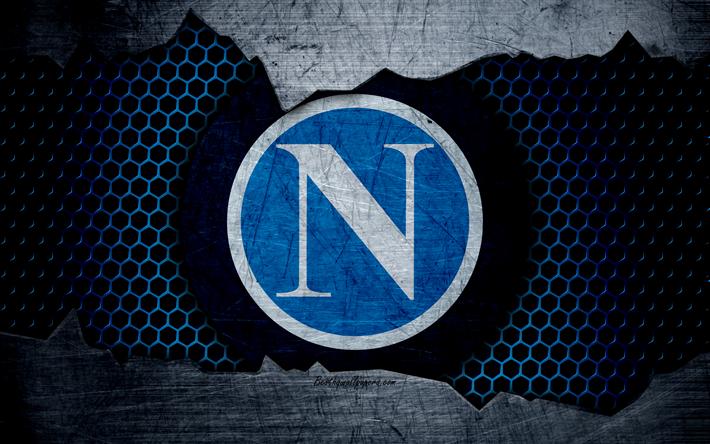 Scarica Sfondi Napoli 4k Arte Serie A Calcio Logo Club Di