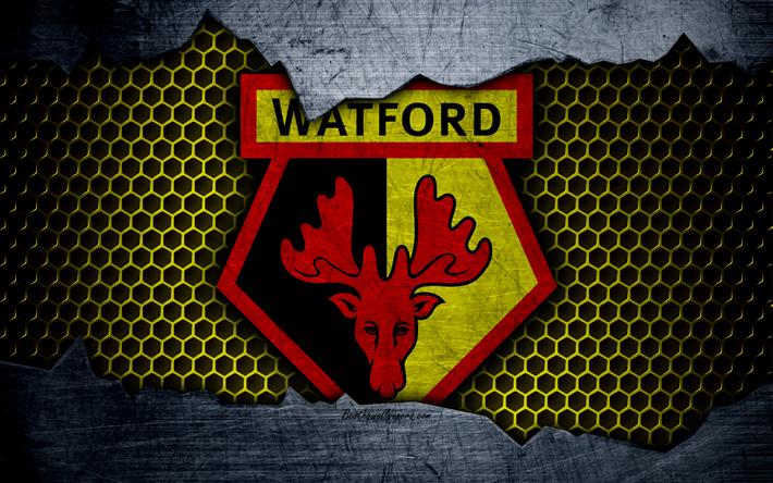 Download Wallpapers Watford FC, 4k, Football, Premier