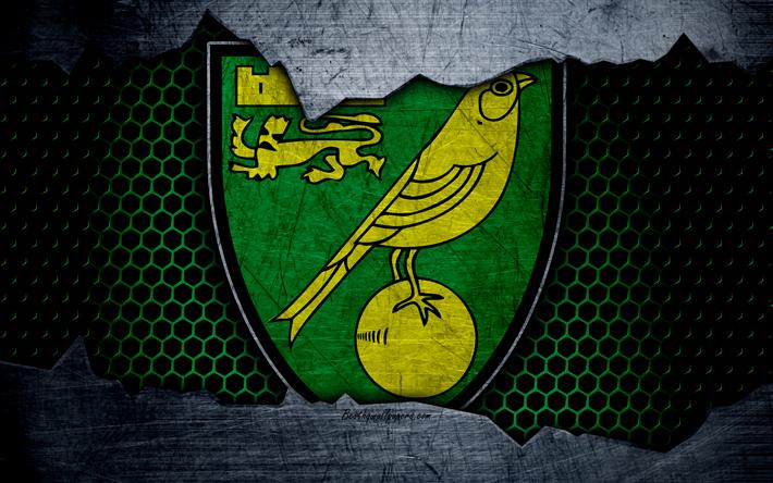 Download Wallpapers Norwich City FC, 4k, Football, Premier