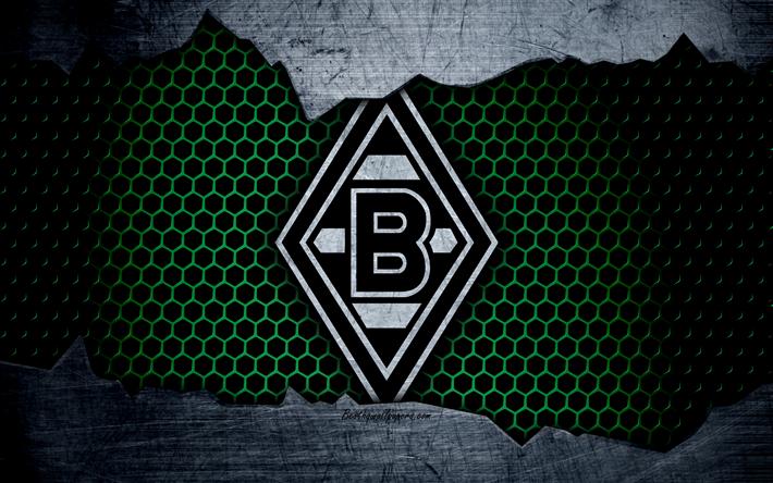 Prächtig Download wallpapers Borussia Monchengladbach, 4k, logo, Bundesliga @HR_14