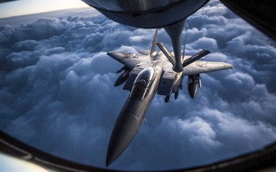McDonnell Douglas F-15 Eagle, refueling, NATO, fighter, combat aircraft, McDonnell Douglas