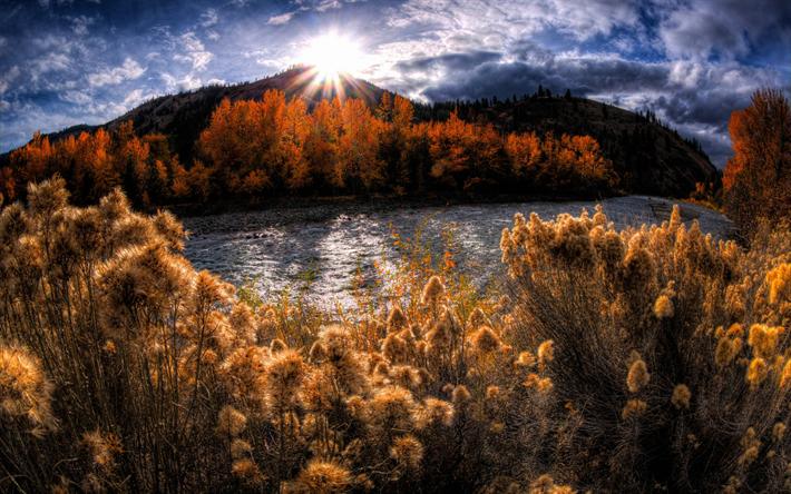 foto de Télécharger fonds d'écran rivière de montagne automne