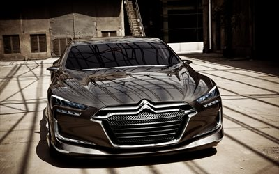 Citroen Metropolis, front view, luxury cars, sedan, concepts, French cars, Citroen